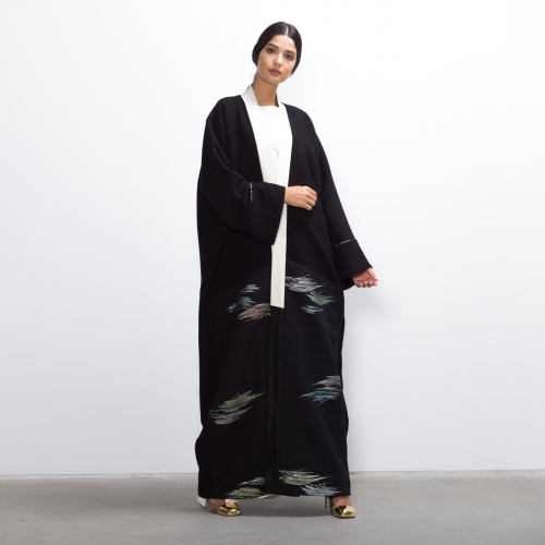 Black Metallic Abaya