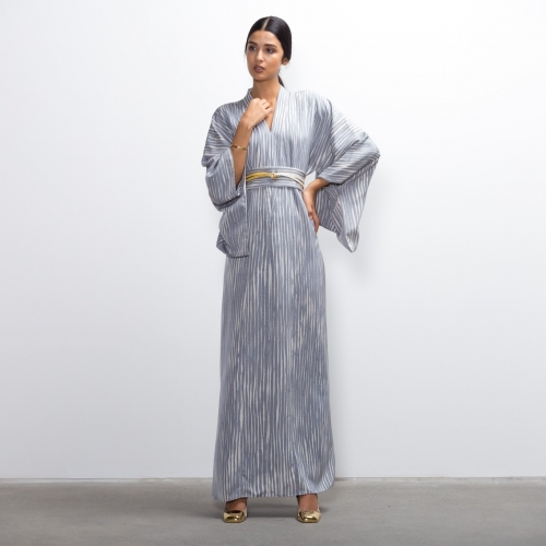 Blue Rain Silk Kimono...