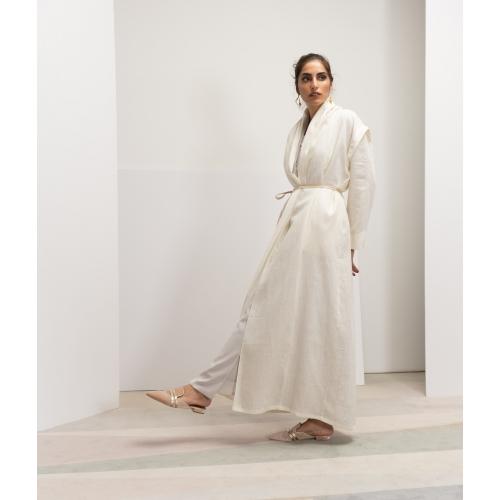 Convertible Abaya in Ivory...