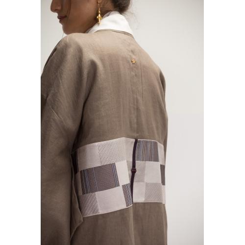 Mauve Linen Kimono Abaya...