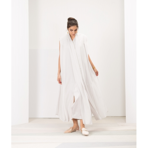 DOUBLE LAYER DRESS IN LIGHT GREY