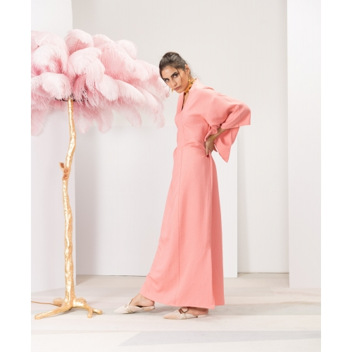 Candy Pink Silk Dress One...