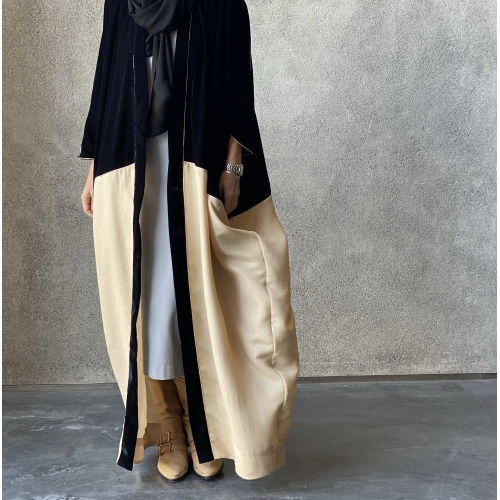 Double tone Black Velvet Abaya