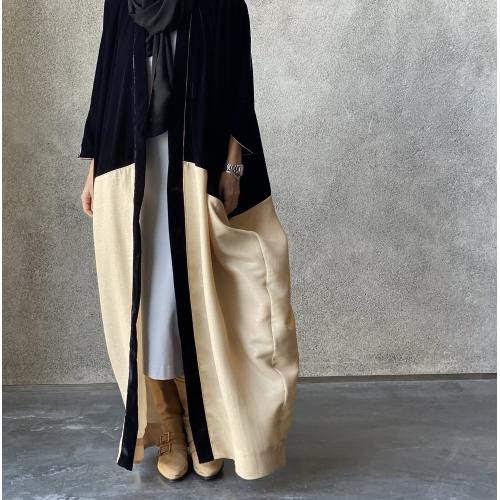 Double tone Black Velvet Abaya