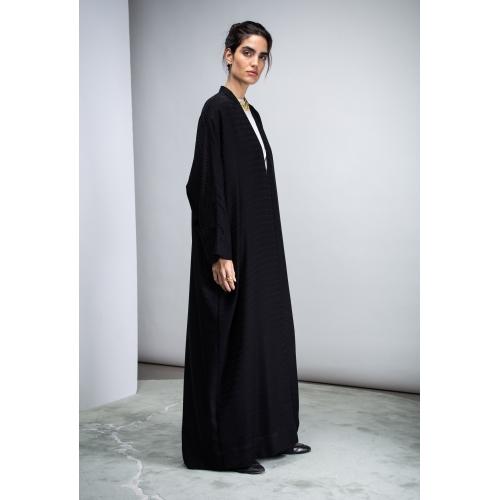 Black Chevron Abaya