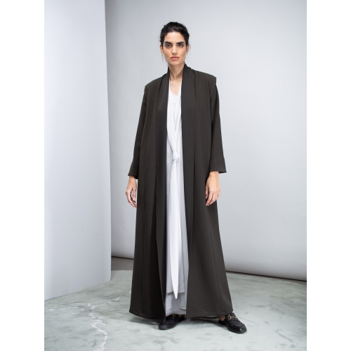 Convertible Abaya in Dark Green