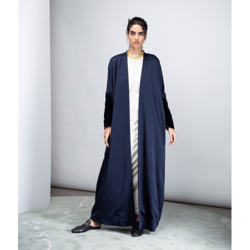 METALLIC BLUE LUXURY ABAYA