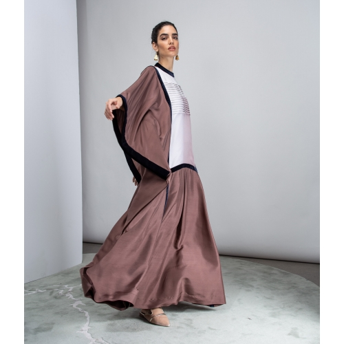 PLEATED MAUVE KAFTAN