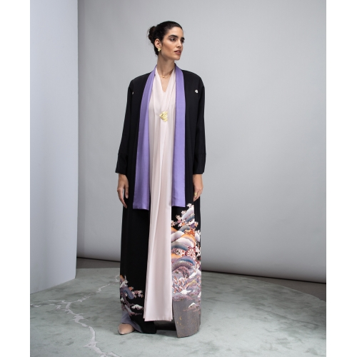 HAND-PAINTED SILK ABAYA NO.3