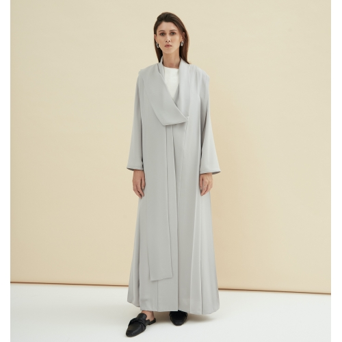 Light Gray Pleated Abaya