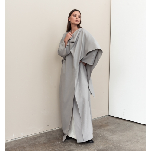 Wrap Abaya in Gray