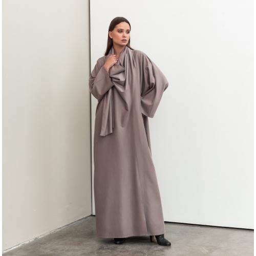 Wrap Abaya in Mauve