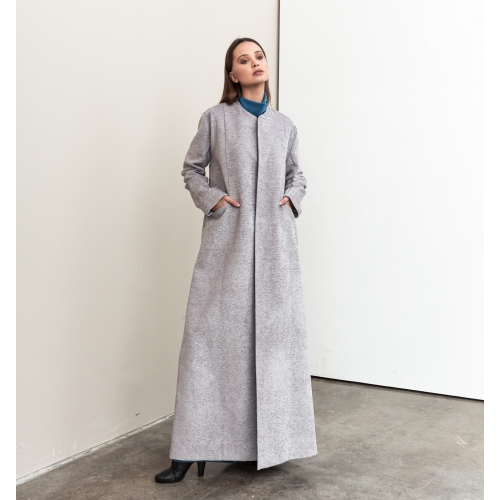 Dove Gray Structured Abaya