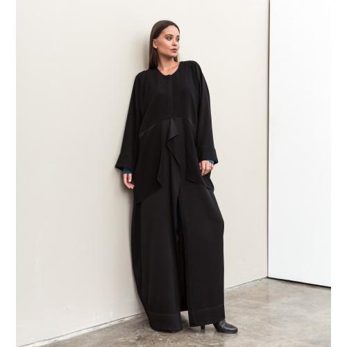 Black Ripple Abaya