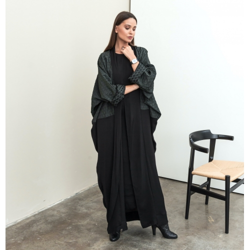 Metallic Green Lightweight Abaya