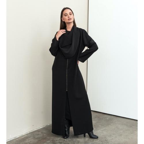 Front Hood Collar Abaya