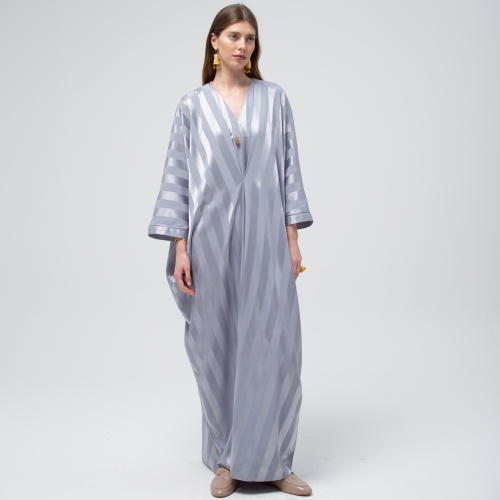 Grey Mist Stripe Kaftan