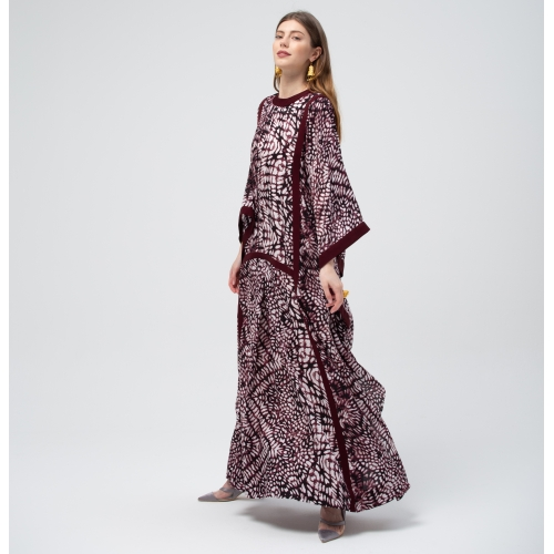 Mauve Purple Pattern Kaftan