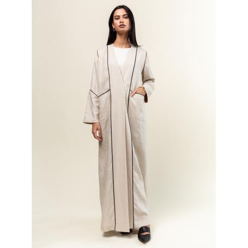 Oatmeal Linen Abaya