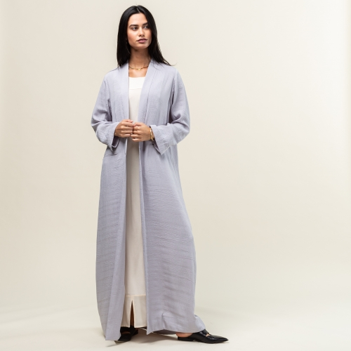 Light Gray Structured Abaya