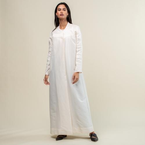 Pearl White Metallic Abaya