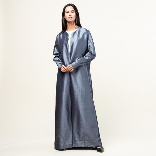 Blue Metallic Abaya