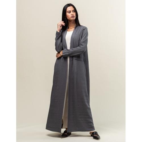 Dark Grey Suit Abaya