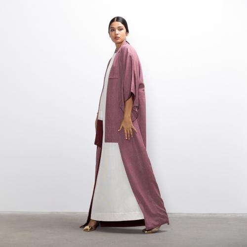 Mauve Cherry Silk Kimono