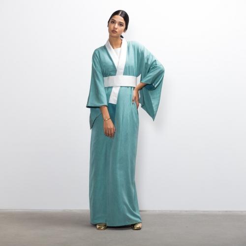 Tiffany Aqua Silk Kimono